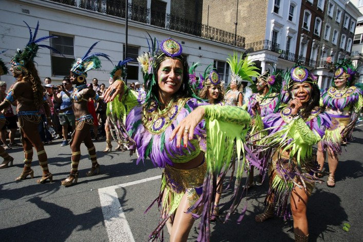 Notting Hill Carnival Parade Steelband Caribbean Costumes