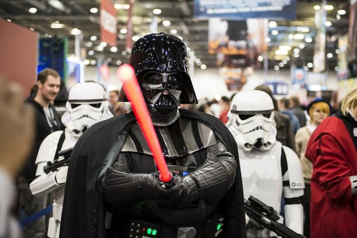 Darth Vader am Flughafen düsseldorf