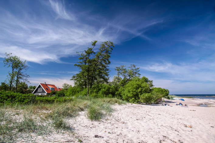Sandy beach on Bornholm