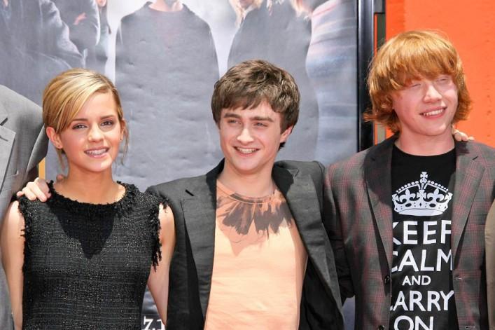 Die drei Schauspieler des erfolgreichen Films Harry Potter