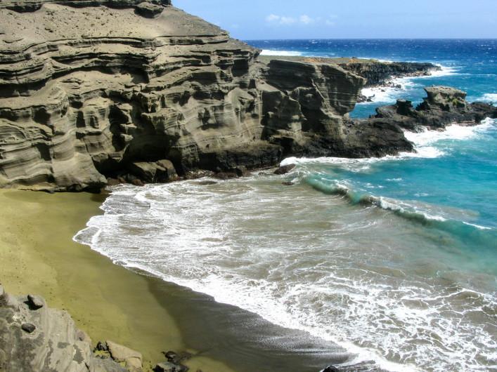 außergewöhnliche strände papakolea big island