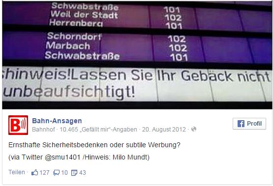 Lustige Bahn-Ansagen Deutsche Bahn