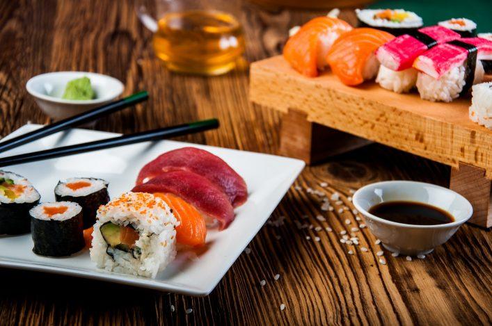 Japanisches Essen beim Japan Tag in Düsseldorf.
