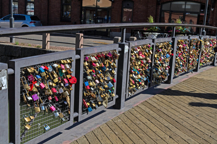 Bridge of Locks, Helsinki, Finland