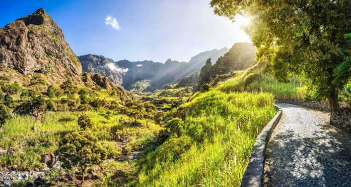 Beautiful panoramic landscape of Ribeira do Paul – Cape Verde iStock_000026471330_Large-2