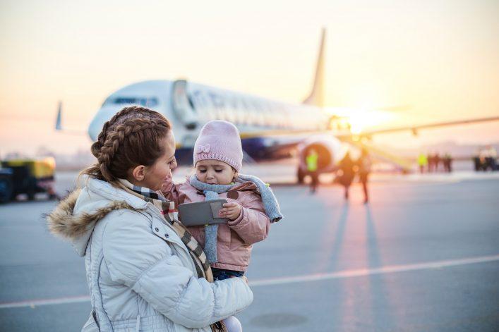 Reisen mit Kleinkind, Tipps, Fliegen mit Kind