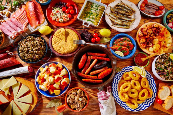 Tapas from spain varied mix of most popular tapa mediterranean food_shutterstock_395003893 – Copy
