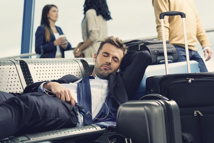Schlafen im Flughafen