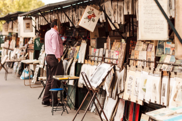 Bouquinistes in Paris