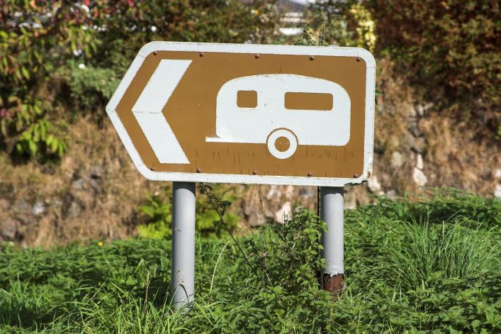 Caravan Site Sign
