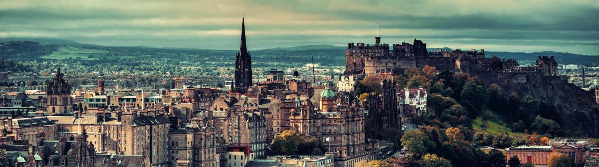 Edinburgh city skyline viewed from Calton Hill United Kingdom shutterstock_360029915-2