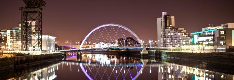 Glasgow Arc 'Squinty' Bridge by Night