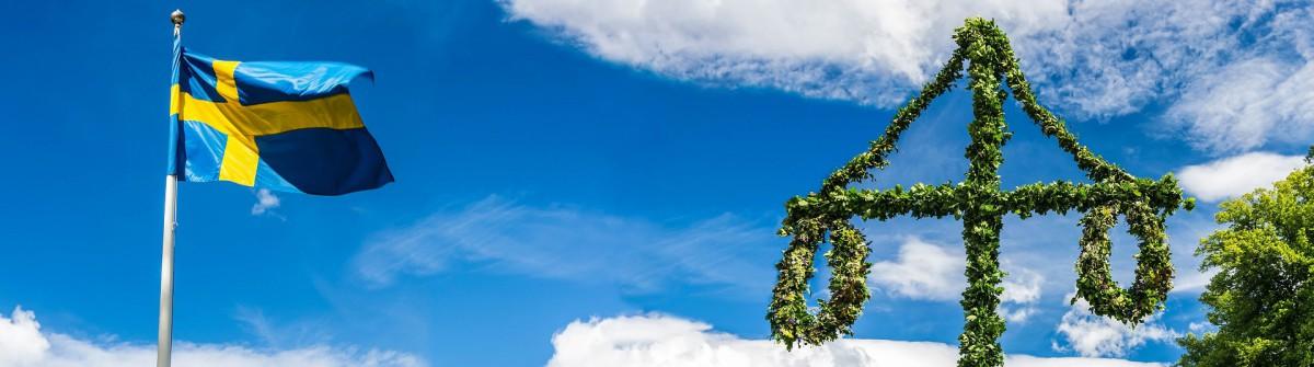 Midsommar Schweden Baum