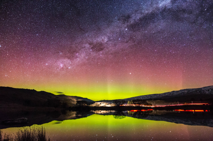 Aurora Australis in New Zealand