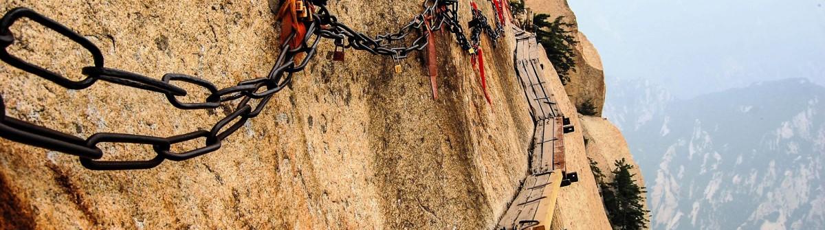 Diee gefährlichsten Wanderwege der Welt Huashan Pfad
