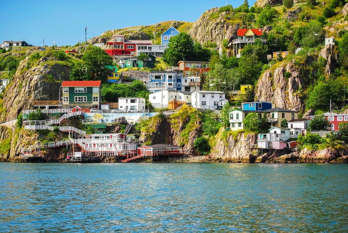 Harbour front village in St. John's shutterstock_144308257-2