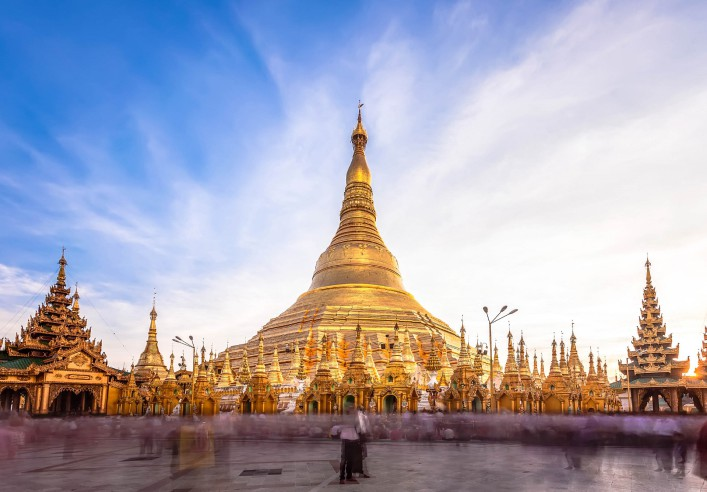 Tempel Shwedagon Pagode Myanmar