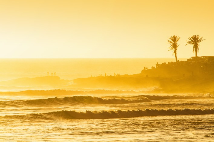 Sunset surf session @ Anchor point