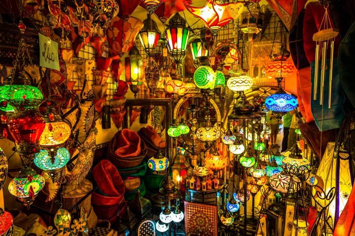 Marrakesch Tipps Lampen Souk Markt Nachtleben