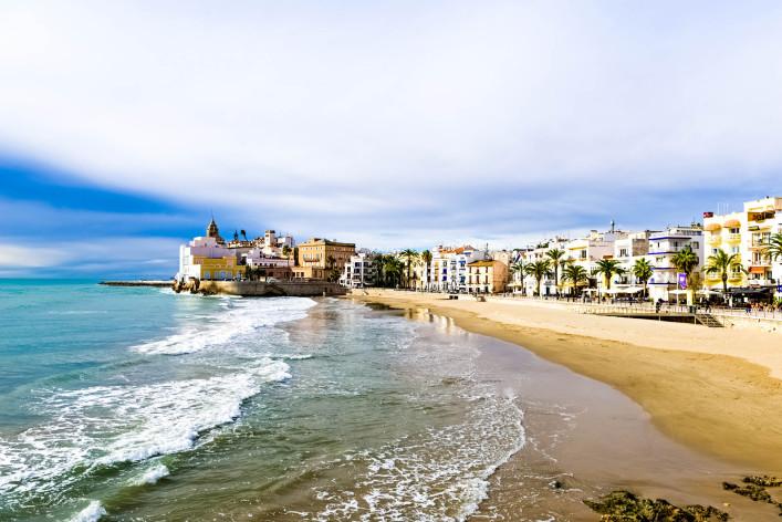 Barcelona im Sommer Strand