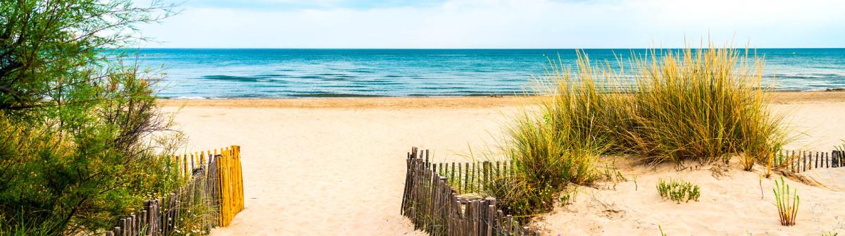 Beach near Montpellier (France)