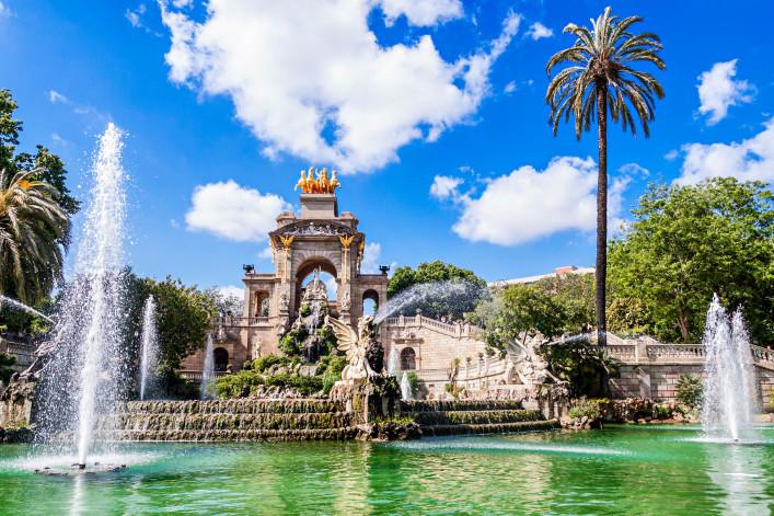 Barcelona im Sommer Parc de la Ciutadella