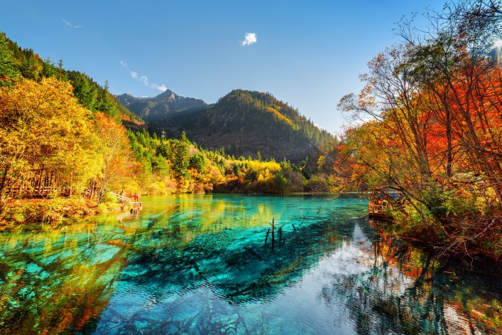 Jiuzhaigou Nationalpark China