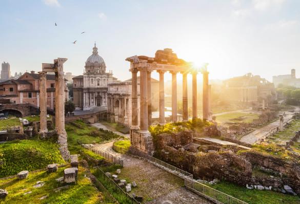 Rom im August, Sommer, Sonne, Forum Romanum