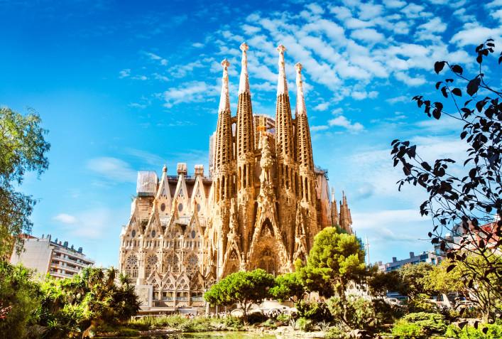 Barcelona im Sommer Sagrada Familia