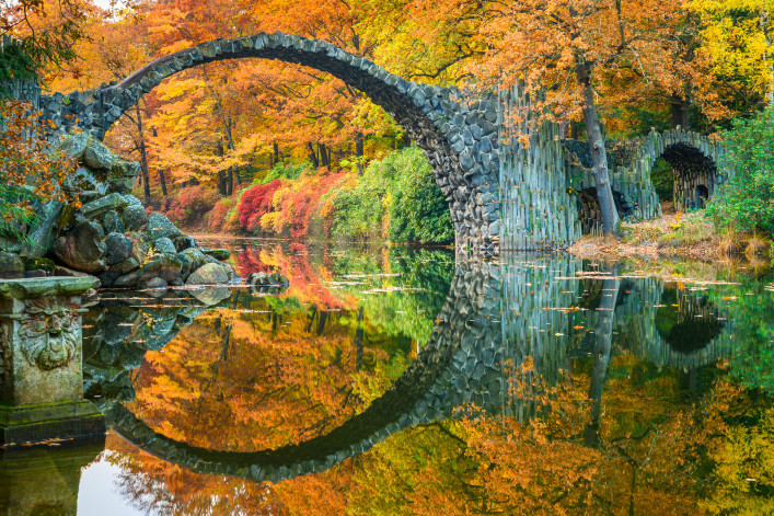 Arch Bridge in Kromlau, Saxony, Germany shutterstock_336741446-2