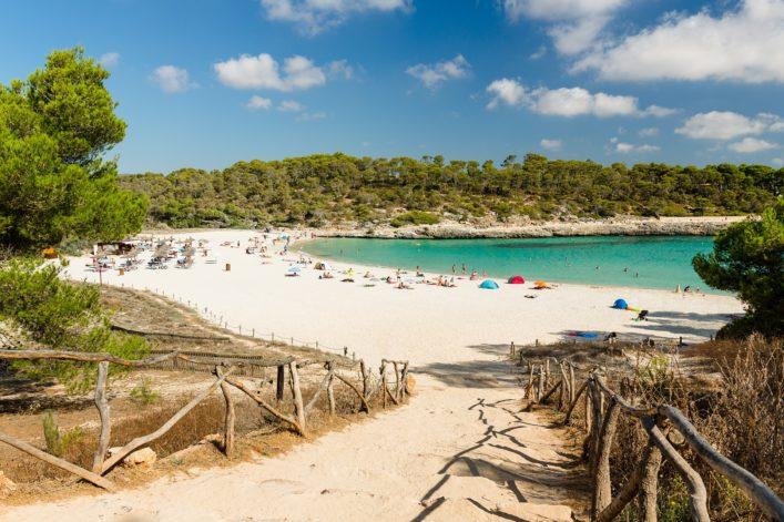 Cala S'Amarador, Beach in Mondrago Natural Park on the south eastern coast of Mallorca shutterstock_549996865