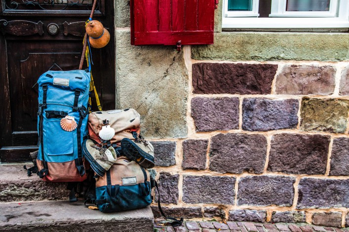 Facade of a hostel for pilgrims traveling to Santiago shutterstock_116226094-2