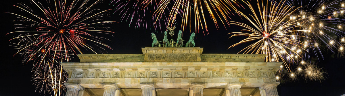 Fireworks Celebration at Berlin Germany