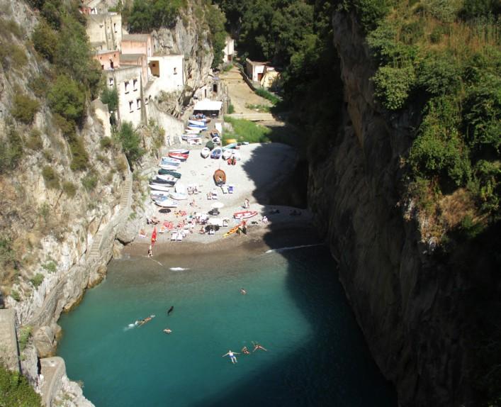 Beach Furore, Amalfi coast, Italy
