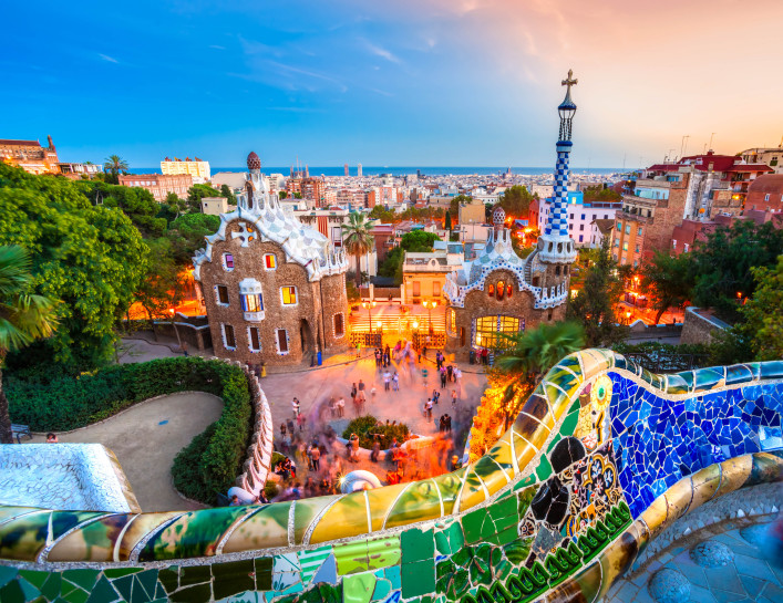 Park Guell in Barcelona, Spain shutterstock_174454670 EDITORIAL ONLY Luciano Mortula-2