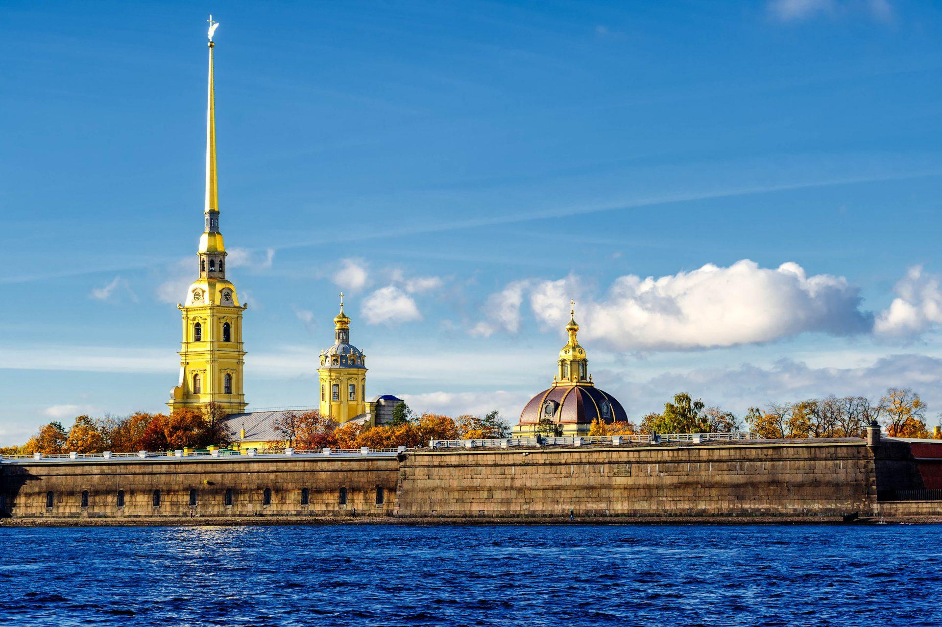 Die Peter und Paul Festung auf der Haseninsel ist das Herzstück von St Petersburg