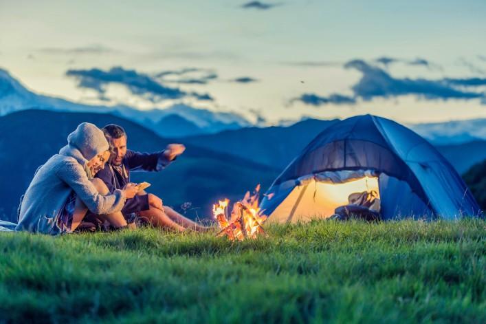 Umweltbewusstes Reisen Camping
