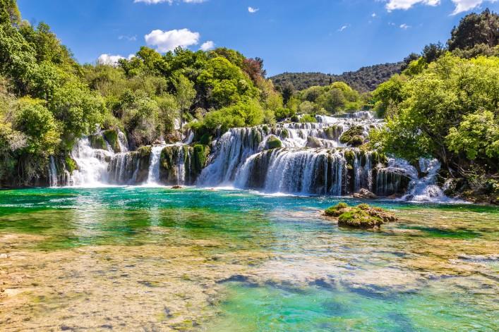 spektakulärsten wasserfälle krka nationalpark