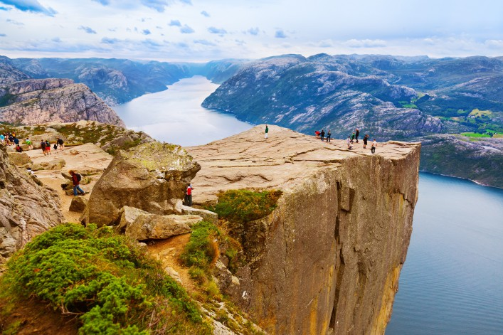 Cliff Preikestolen in fjord Lysefjord – Norway – nature and travel background_shutterstock_224268163 – Copy