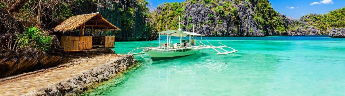 Philippinen Boot Strand Meer