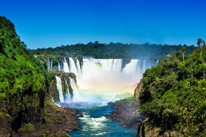 Spektakulärste Wasserfälle Iguazu