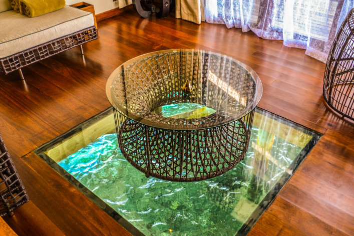 interier of maldives luxury ocean villa