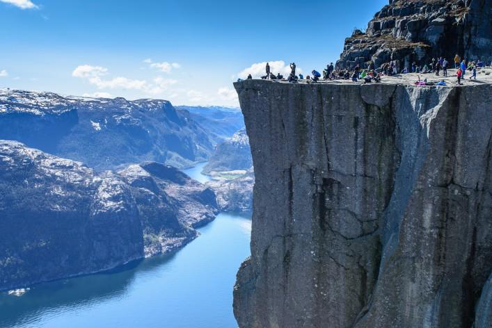 Majestic Preikestolen over Lysefjorden, Stavanger, Norway_Shutterstock