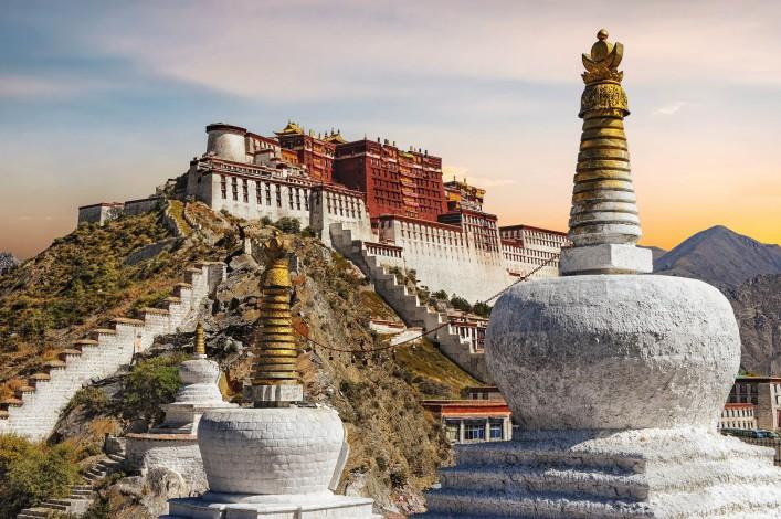 Potala Palast in Tibet