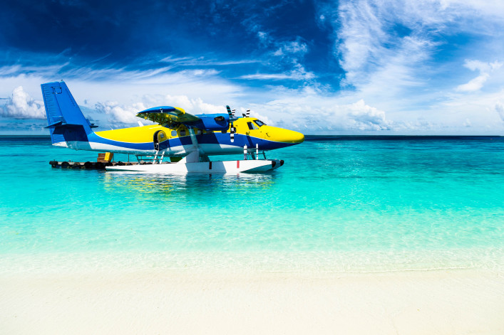 sea plane in the indian ocean