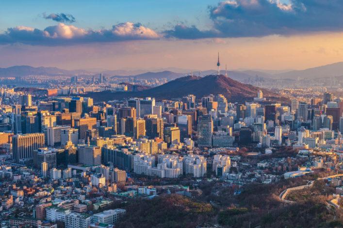 Die größten Städte der Welt Seoul Südkorea