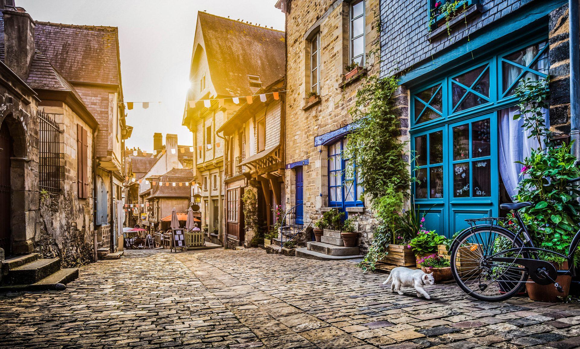 Ein Städtchen in der Normandie