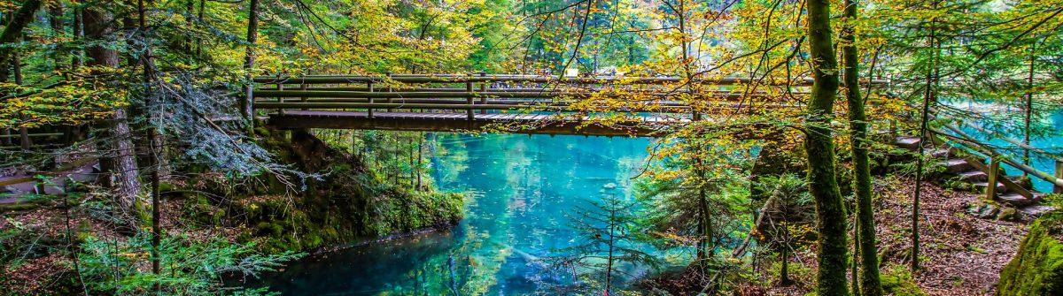 Blausee in der Schweiz