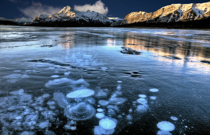 Winter in Kanada Abraham Lake