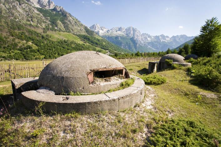 Albanien Urlaub Bunker